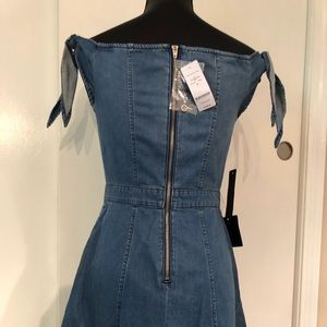 bebe Dresses - Bebe Denim Strapless Dress